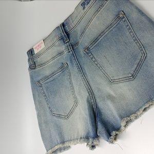 PINK Victoria's Secret Shorts - NWT Pink High Waist Cut Off Shorts Size 8